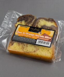 Chocolate & Orange Marble Cake Slices